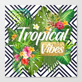 Tropical Vibes Canvas Print