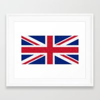 british flag Framed Art Prints featuring British flag mosaic by Zora Zora