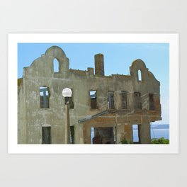 Hollowed-out Alcatraz Building Art Print