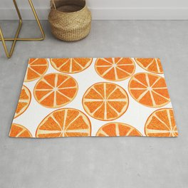 Orange Lemon Pattern Rug