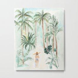 Palm Trees Bali Vacation Metal Print
