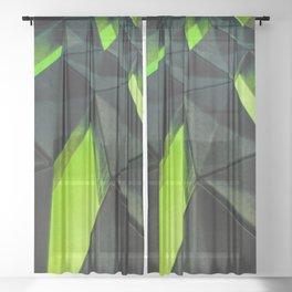 Dark Kryptonite by Brian Vegas Sheer Curtain
