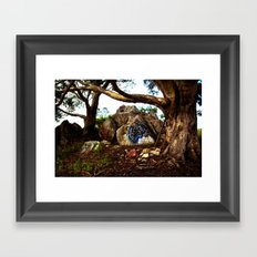 Hippie Tree Framed Art Print