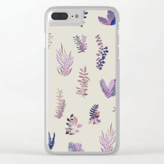 pink garden at day Clear iPhone Case