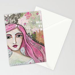 Believe in Your Own Magic Mixed Media Fairy Girl Stationery Cards