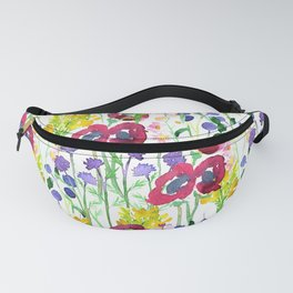 Wildflowers Watercolor Fanny Pack