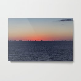 Distant Miami Sunset Metal Print