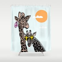 animals Shower Curtains featuring animals by Hanan Azran