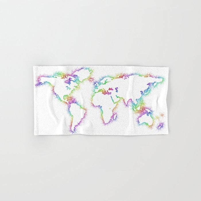 World map Hand & Bath Towel