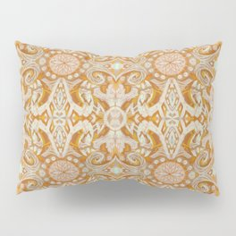 Curves & lotuses, abstract arabesque Pillow Sham