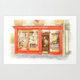 The Old Curiosity Shop, watercolour Art Print