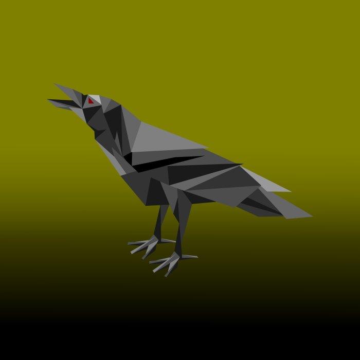 Raven Geometric Grey Triangles Comforters