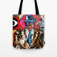 carnage Tote Bags featuring Carnage by Alec Goss