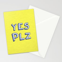 Yes PLZ Stationery Cards