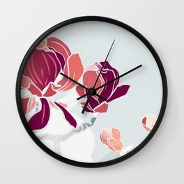 spring 3 blossoms Wall Clock
