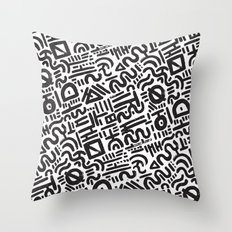 Abstract 0018 Throw Pillow