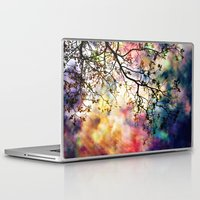 beth hoeckel Laptop & iPad Skins featuring the Tree of Many Colors by Caleb Troy