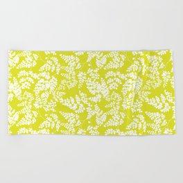 Spring Yellow Beach Towel
