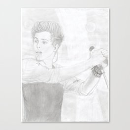 Luke 5 Seconds in Concert Drawing Canvas Print
