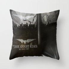 dark knight rises movie fan poster Throw Pillow