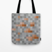 iron maiden Tote Bags featuring Iron by Gardner Art and Design