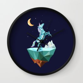 unicorn in the universe Wall Clock