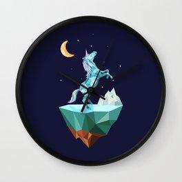 unicorn in the universe Wall Clock