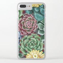 Succulent addict Clear iPhone Case
