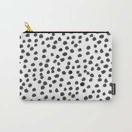 Hand painted monochrome dot pattern Carry-All Pouch
