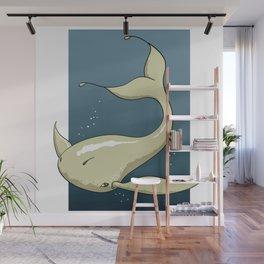Alien White Whale Wall Mural