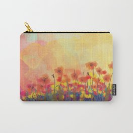 Watercolor Field of Flowers Carry-All Pouch
