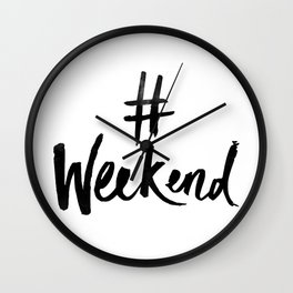 Weekend Wall Clock