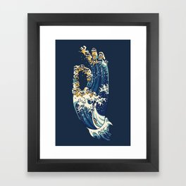 Jnana Mudra of Pug Framed Art Print