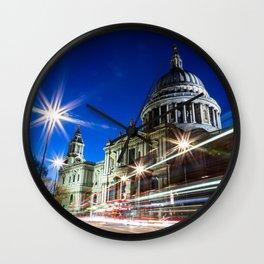 St Paul's at Night Wall Clock