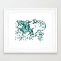 leon Framed Art Prints featuring LEON by Pauillustration