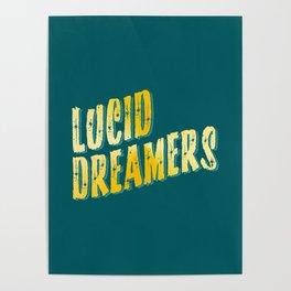 Lucid Dreamer (Gold) Poster