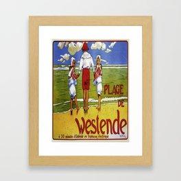 retro Westende Framed Art Print