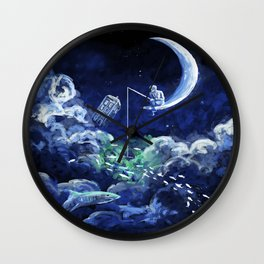 The Doctor Dreaming Of Fishing Wall Clock