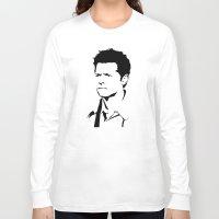 castiel Long Sleeve T-shirts featuring castiel by poorbeautifuldean