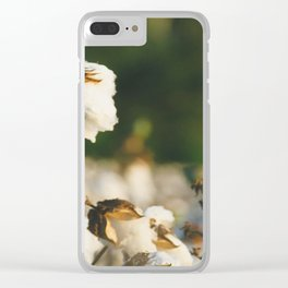 Cotton Field 10 Clear iPhone Case