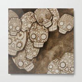 skull fresco Metal Print