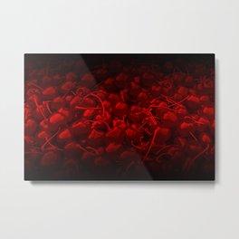 cherries pattern reaclidr Metal Print