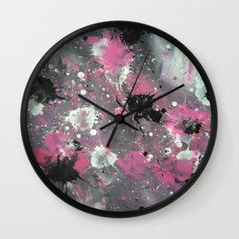 Pink Splash Wall Clock