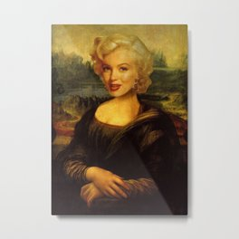 Mona Lisa & Marylin Metal Print