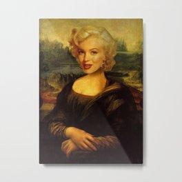 Mona Lisa & Marylin Metal Print