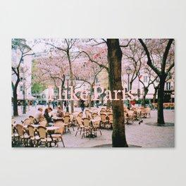 I like Paris. Canvas Print
