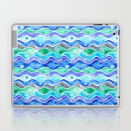 Ocean Pattern - Dolphin Laptop & iPad Skin