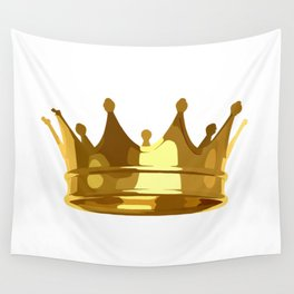 Royal Shining Golden Crown for King or Queen Wall Tapestry