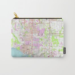 Vintage Map of Bradenton Florida (1964) Carry-All Pouch