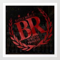 Battle Royale: Survival Program Art Print